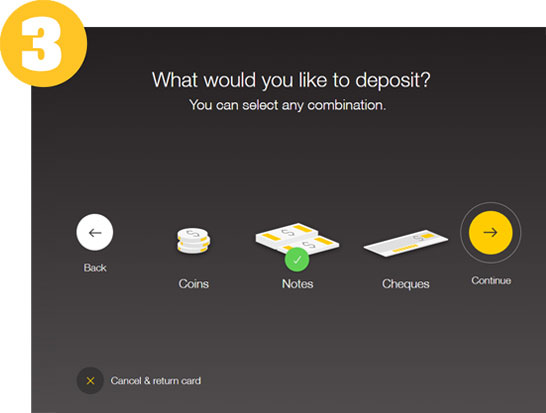 What would you like to deposit