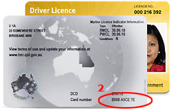 how to write check back drivers licence