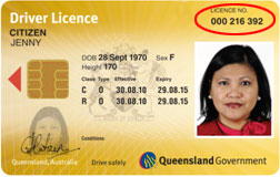 Sample license image