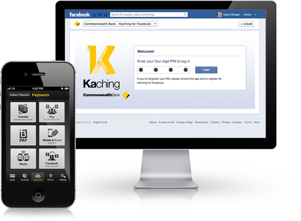 CommBank Kaching for Facebook