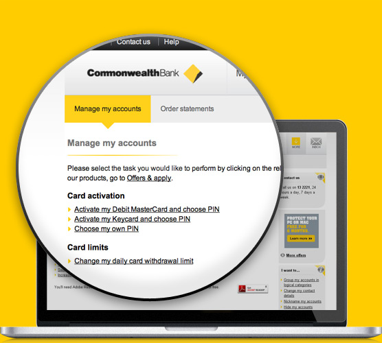 Travel Card Commbank: Card Activation Commonwealth